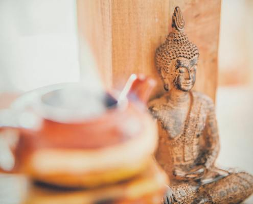 Buddha and teapot image