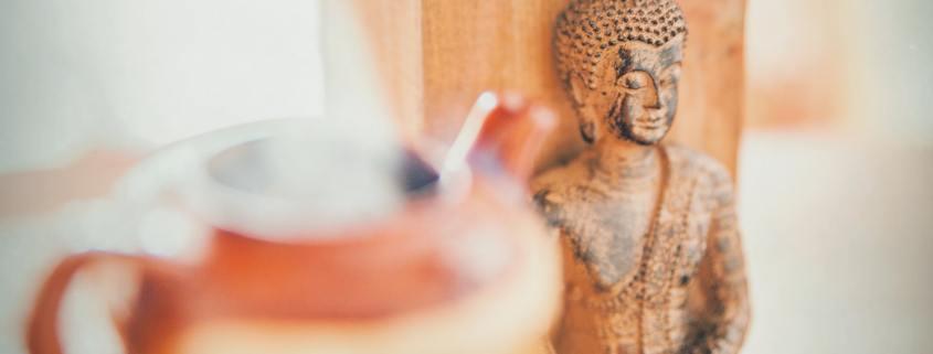 Buddha and teapot image