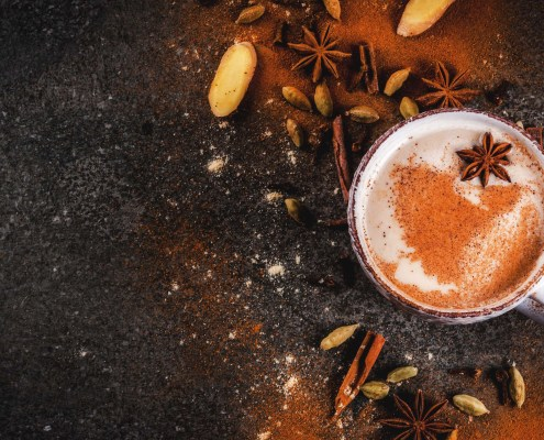 Sticky Chai Post header - a cup of traditional Indian masala chai tea
