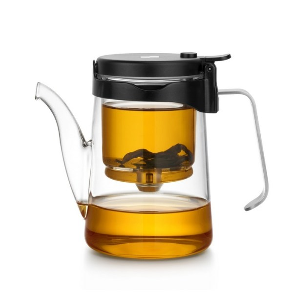 Samadoyo Glass and Stainless Steel Gong Fu Teapot - with oolong tea