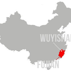 Map showing Wuyishan within Fujian Province, China