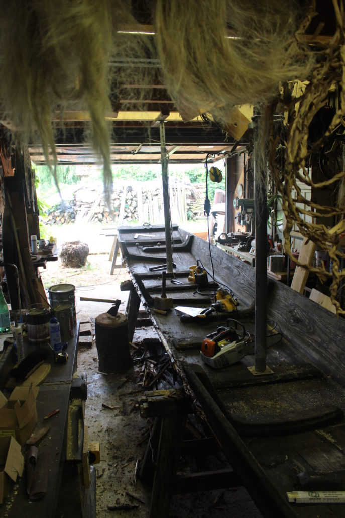 Fabrication de barques  le Batelier du Ried