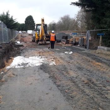 Bateman Groundworks working on Abel Homes site in Watton