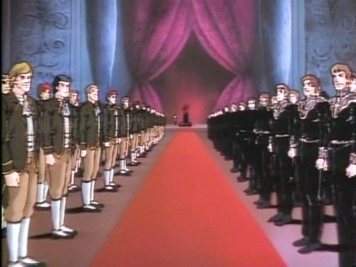 Reinhard von Lohengramm enters the Royal Chamber