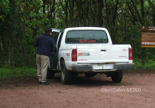 ガラパゴスのタクシーは、白い軽トラ。