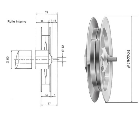 Zinc-coated pulley