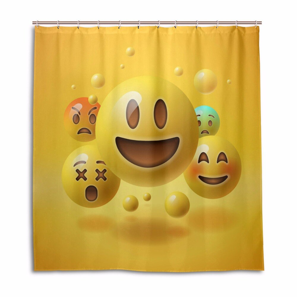 shower curtains funny smiley emoticons