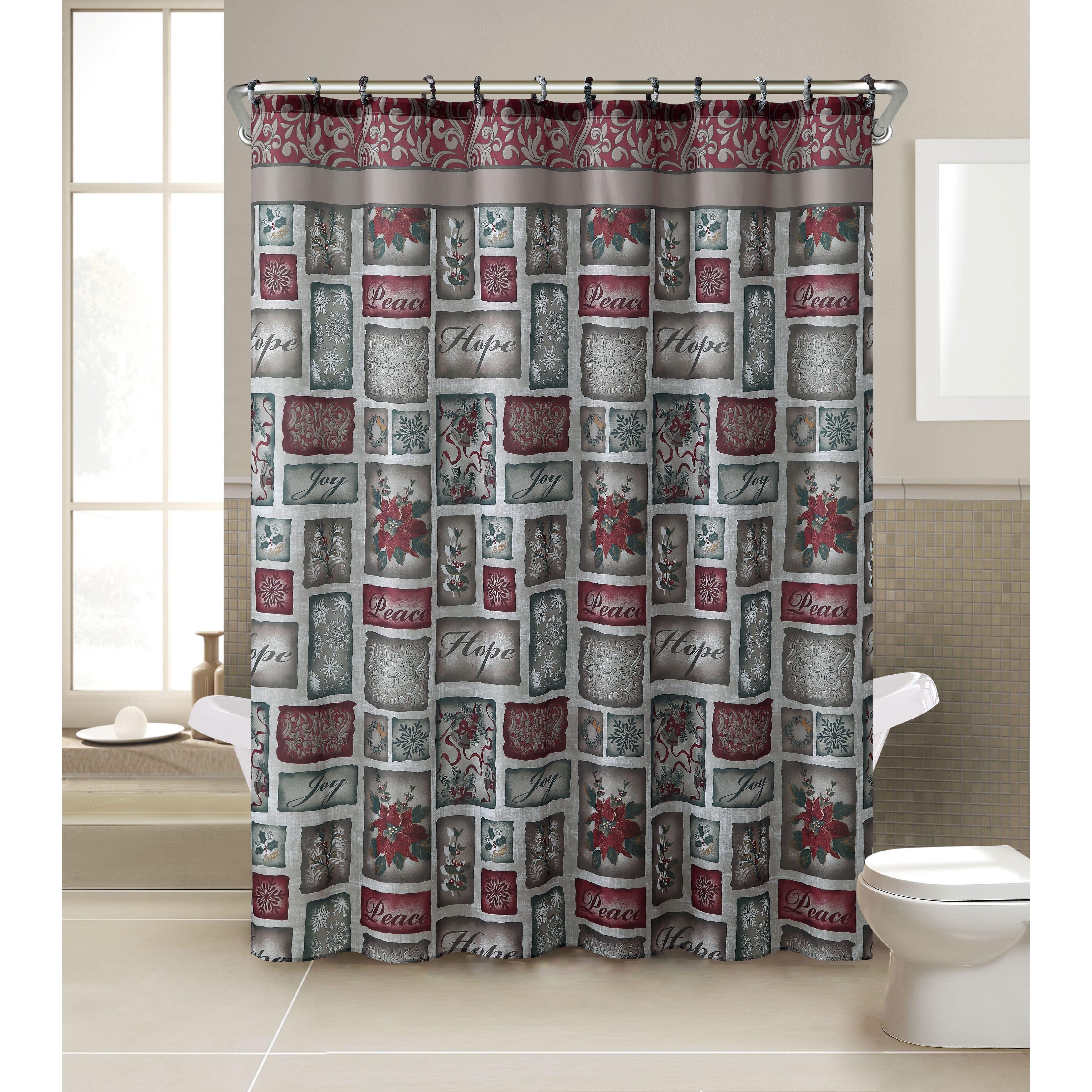 kohls christmas shower curtains  bathsuppliesstore