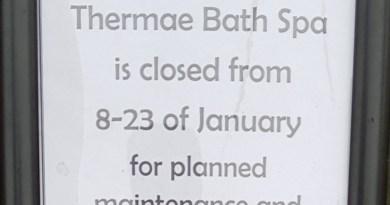 Thermae Spa Bath closed