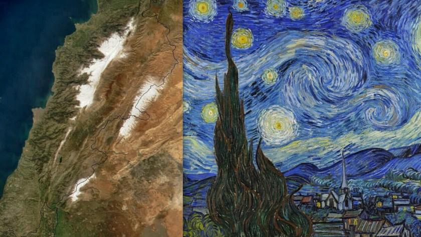 """""""רכס מול הלבנון"""" וואן גוך מצייר ברוש בליל כוכבים, גם שם הוא התאזרח."""