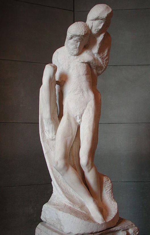 עד מותו - פייטה רונדניני עבודה על סף המופשט פער של כמעט שישים שנים בין שתי העבודות