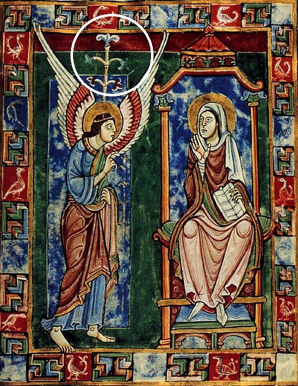 עשרים שנה לאחר כיבוש ירושלים, שושן צחור לראשונה בציור הבשורה St. Albans Psalter