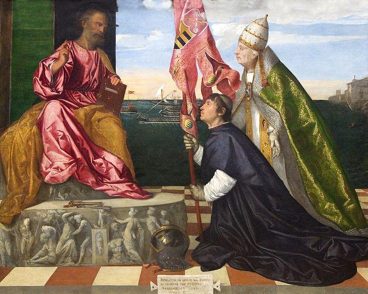 """""""יאקופו פאזרו מוצג על ידי האפיפיור אלכסנדר השישי לפטרוס הקדוש"""