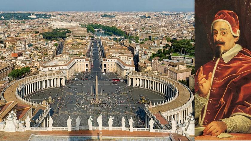 כיכר פטרוס - והאפיפיור אלכסנדר השביעי. מי סופר את פשעיו של אלכסנדר בזמן ששומעים את נאומי ההבלים של האפיפיור הנוכחי.