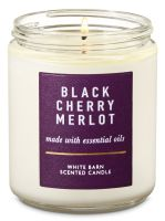 Black Cherry Merlot Single Wick Candle - Bath And Body Works