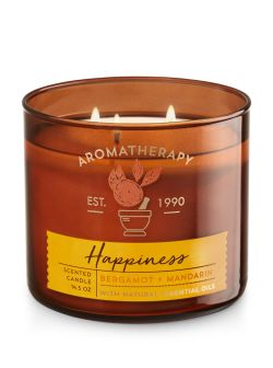 Aromatherapy Happiness - Bergamot & Mandarin 3-Wick Candle - Bath And Body Works