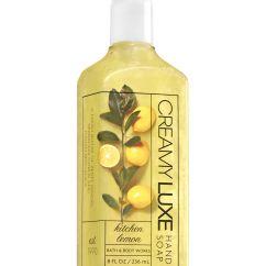 Kitchen Hand Soap Walmart Appliances Lemon Creamy Luxe Bath Body Works And