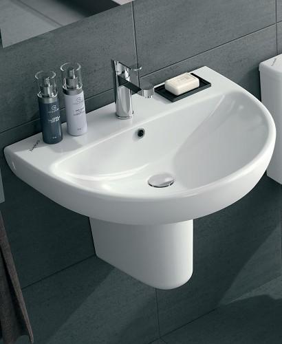 Twyford E100 Wall Hung Toilet and Round Wash Basin Set