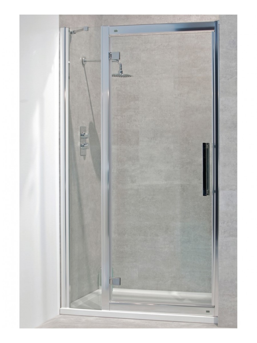 Avante 8mm 1000mm Hinged Shower Door And Single Infill Panel Adjustment 940 1000mm