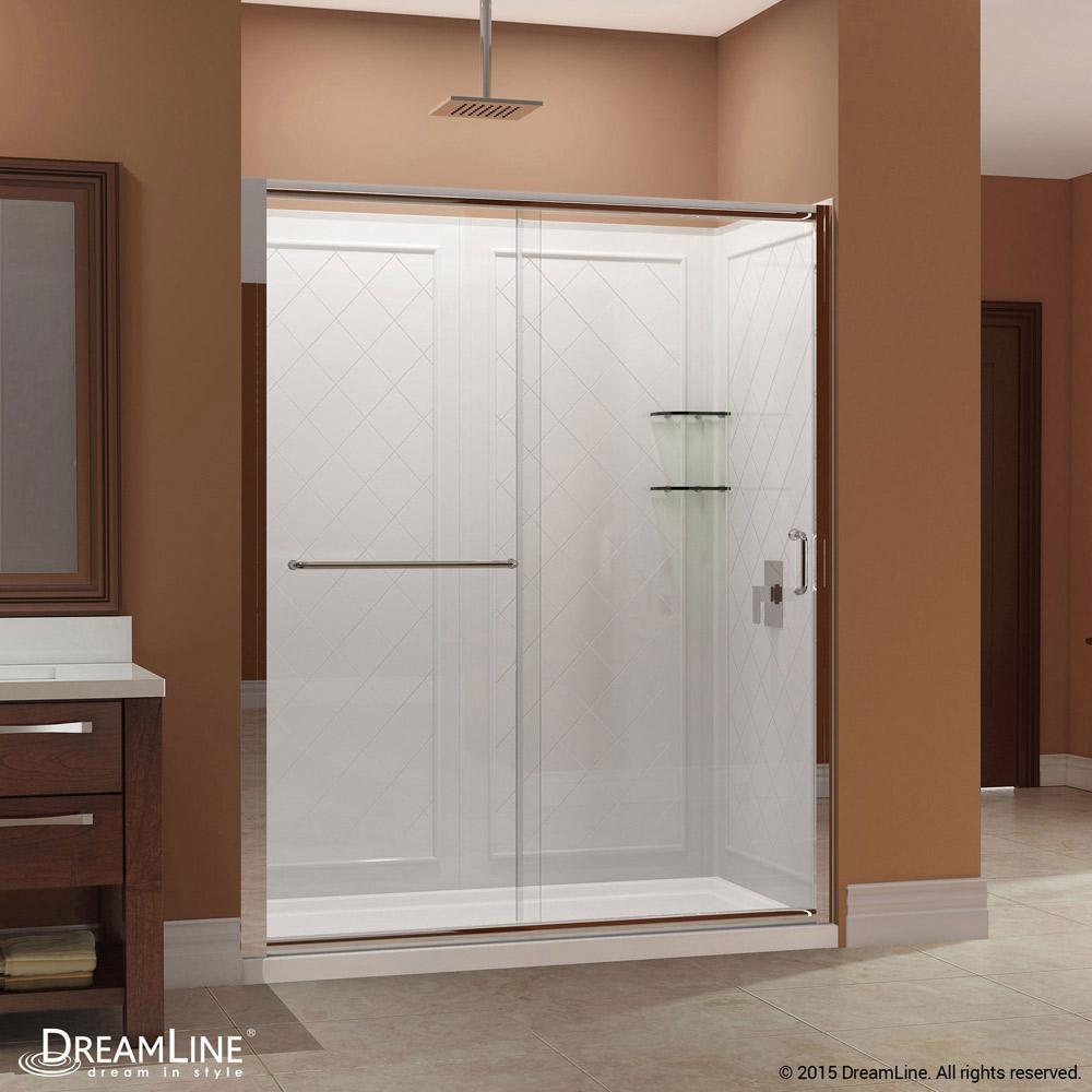 InfinityZ Sliding Shower Door Base  Backwall Kits