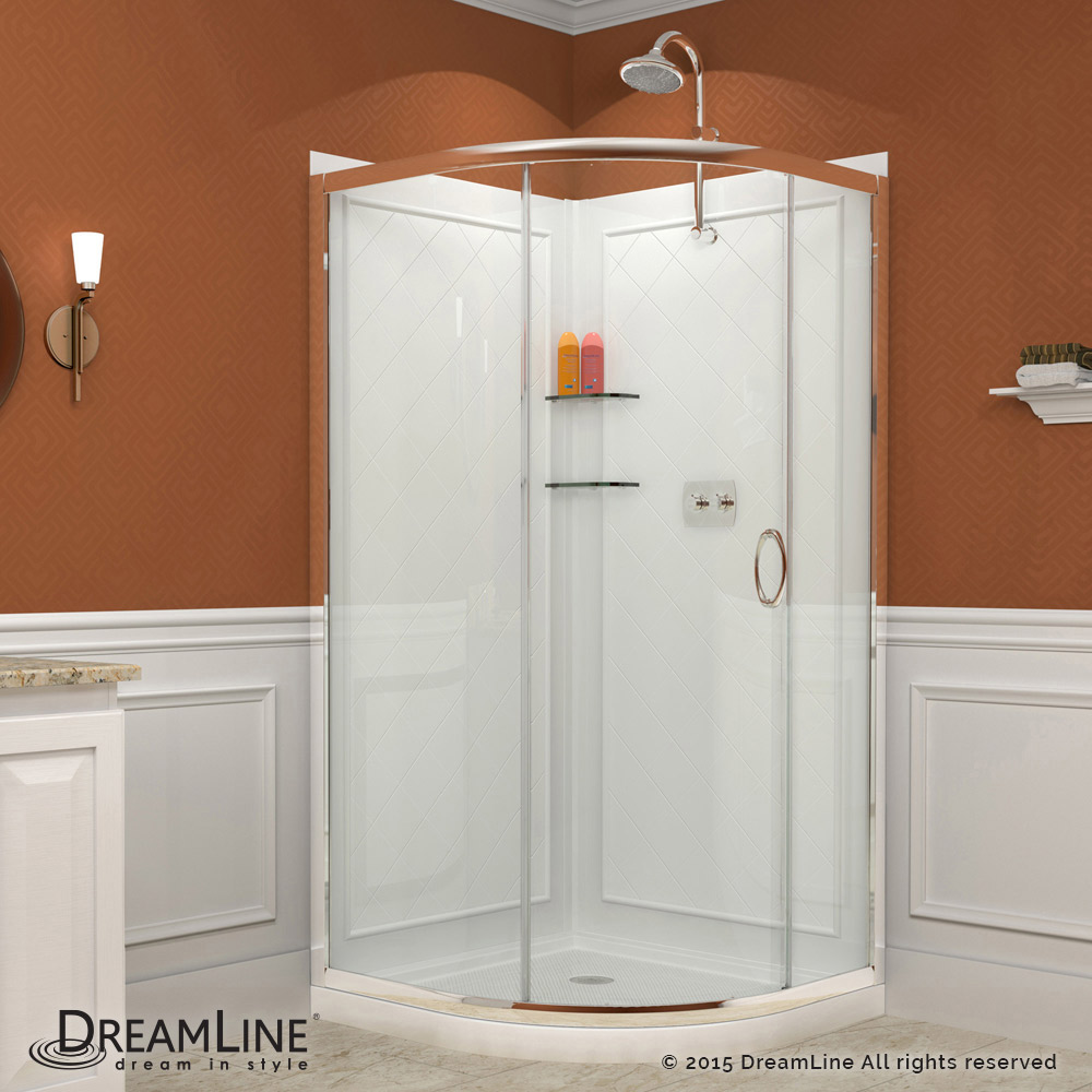 Solo Sliding Shower Enclosure Base  Backwall Kits