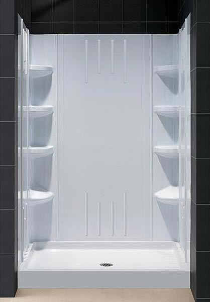 Trio Shower Base  Backwall Kit