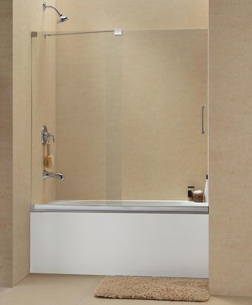 Frameless Sliding Tub Shower Doors frameless sliding bath shower doors | ideasidea