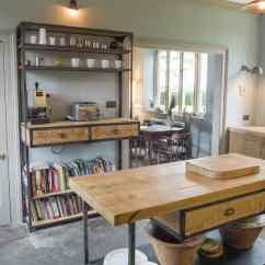 Unfinished Kitchen Island Refrigerator Bespoke Fitted Kitchens | Industrial Style Vintage