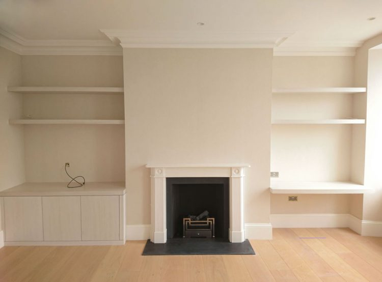 Alcove shelving  cupboards handcrafted for a home in Bath  Bath Bespoke