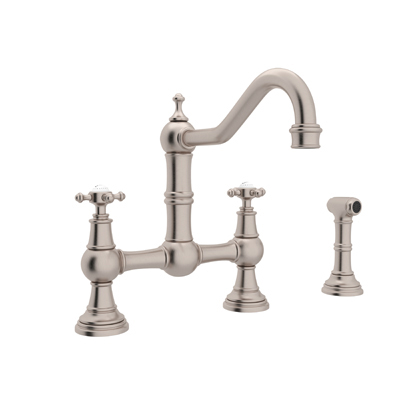 rohl kitchen faucet modern rug perrin rowe bridge with sidespray u 4755