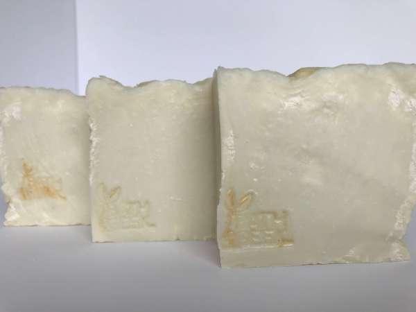 Pure Soap Unfragranced & Uncolored 100% Olive Oil Castile Soap cross-section