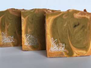 Pumpkin Cheesecake Soap - Close-Up