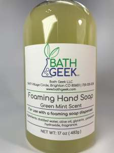 Green Mint Foaming Soap