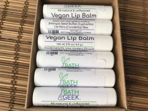 Unflavored Vegan Lip Balm - Box View