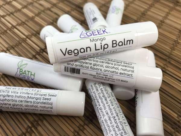 Mango Vegan Lip Balm - Close View