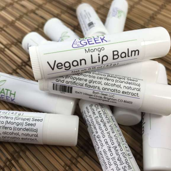 Mango Vegan Lip Balm - Close View