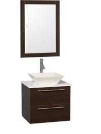 "24"" Amare Single Vessel Sink Vanity - Espresso - Bathgems.com"