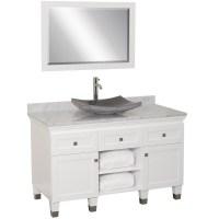 "48"" Premiere Single Vessel Sink Vanity - White - Bathgems.com"