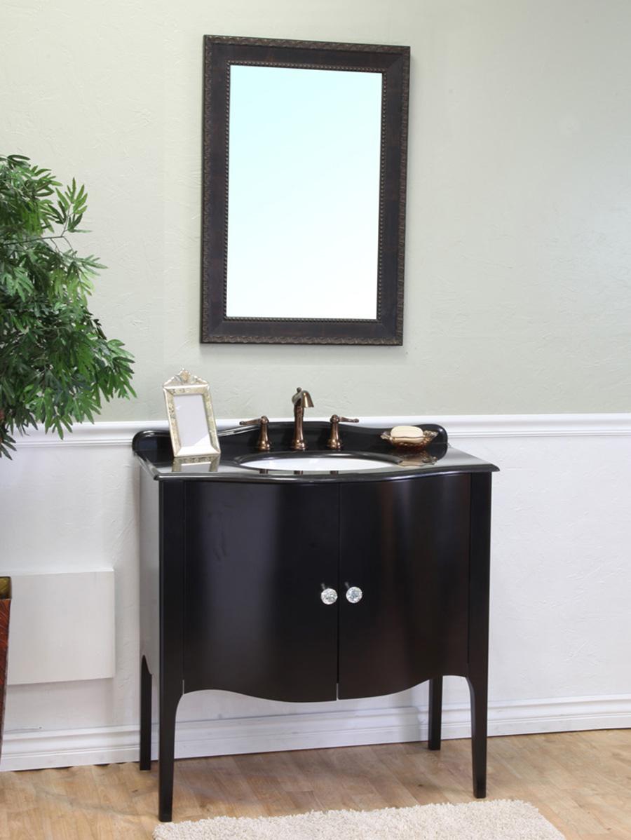 3675 Thetford Single Bath Vanity  Black  Bathgemscom