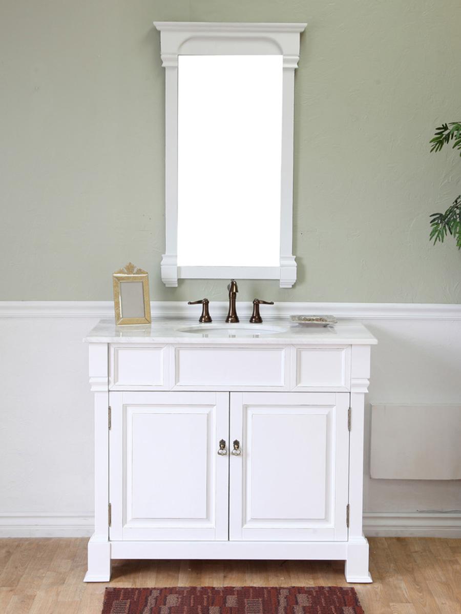 42 Helena Single Bath Vanity  White  Bathgemscom