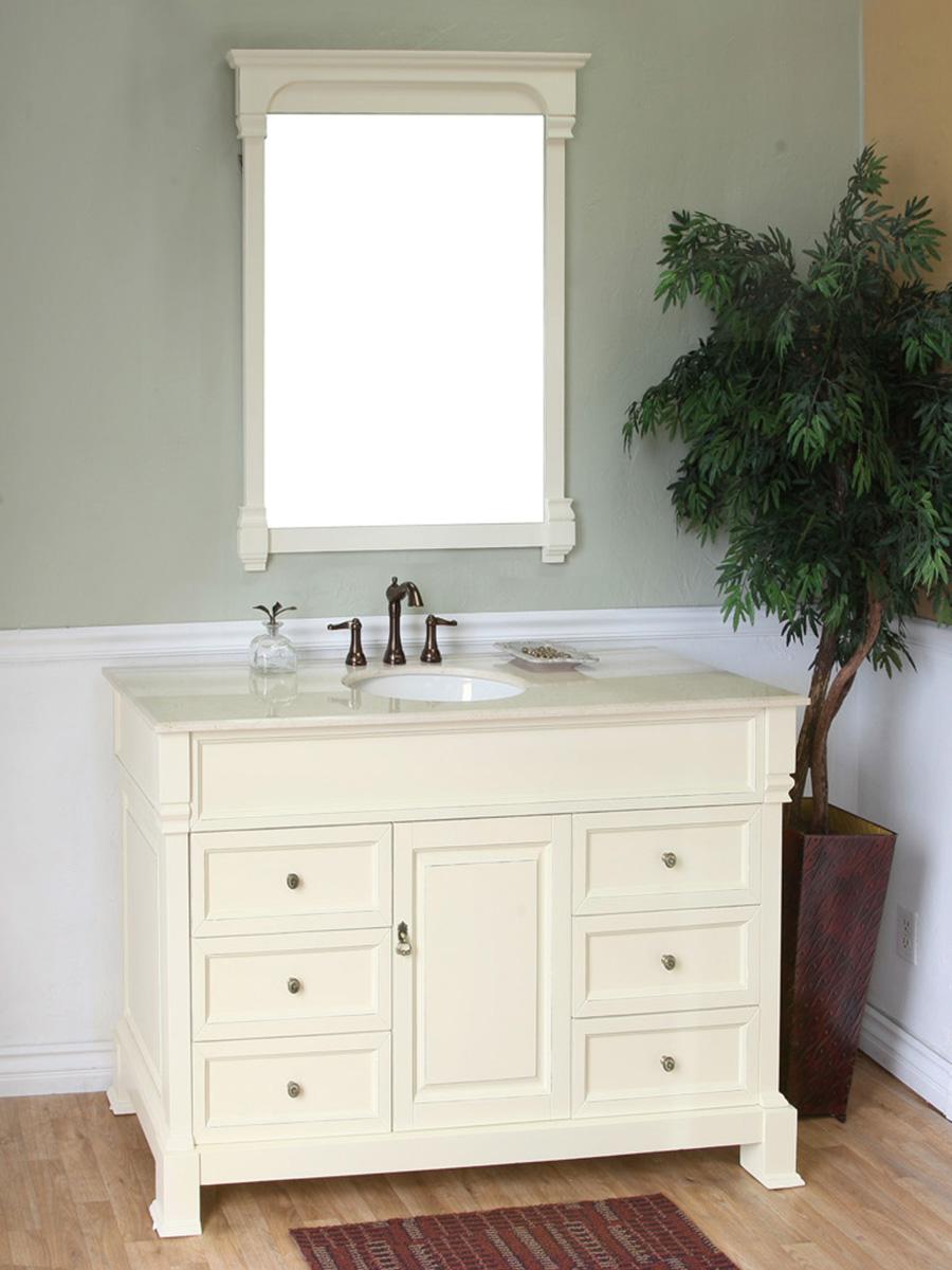 50 Helena Single Bath Vanity  Cream  Bathgemscom