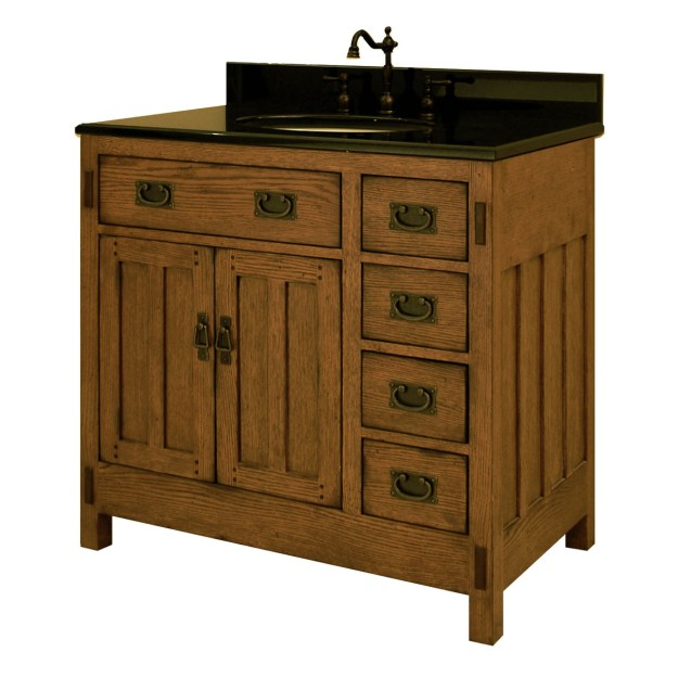 "36"" american craftsman single bath vanity - bathgems"