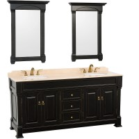 "72"" Andover Double Sink Vanity - Black - Bathgems.com"