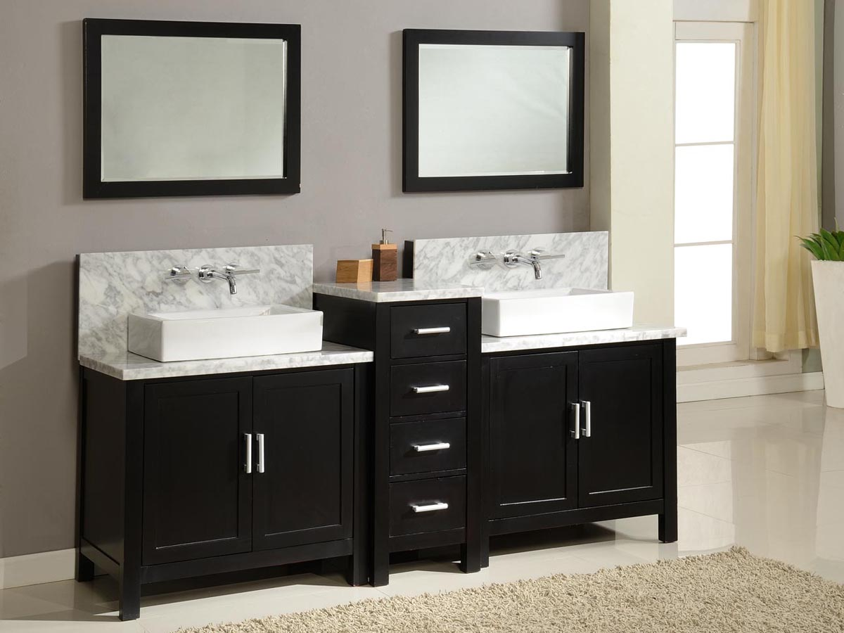 84 Torrington Double Vessel Sink Vanity  Espresso