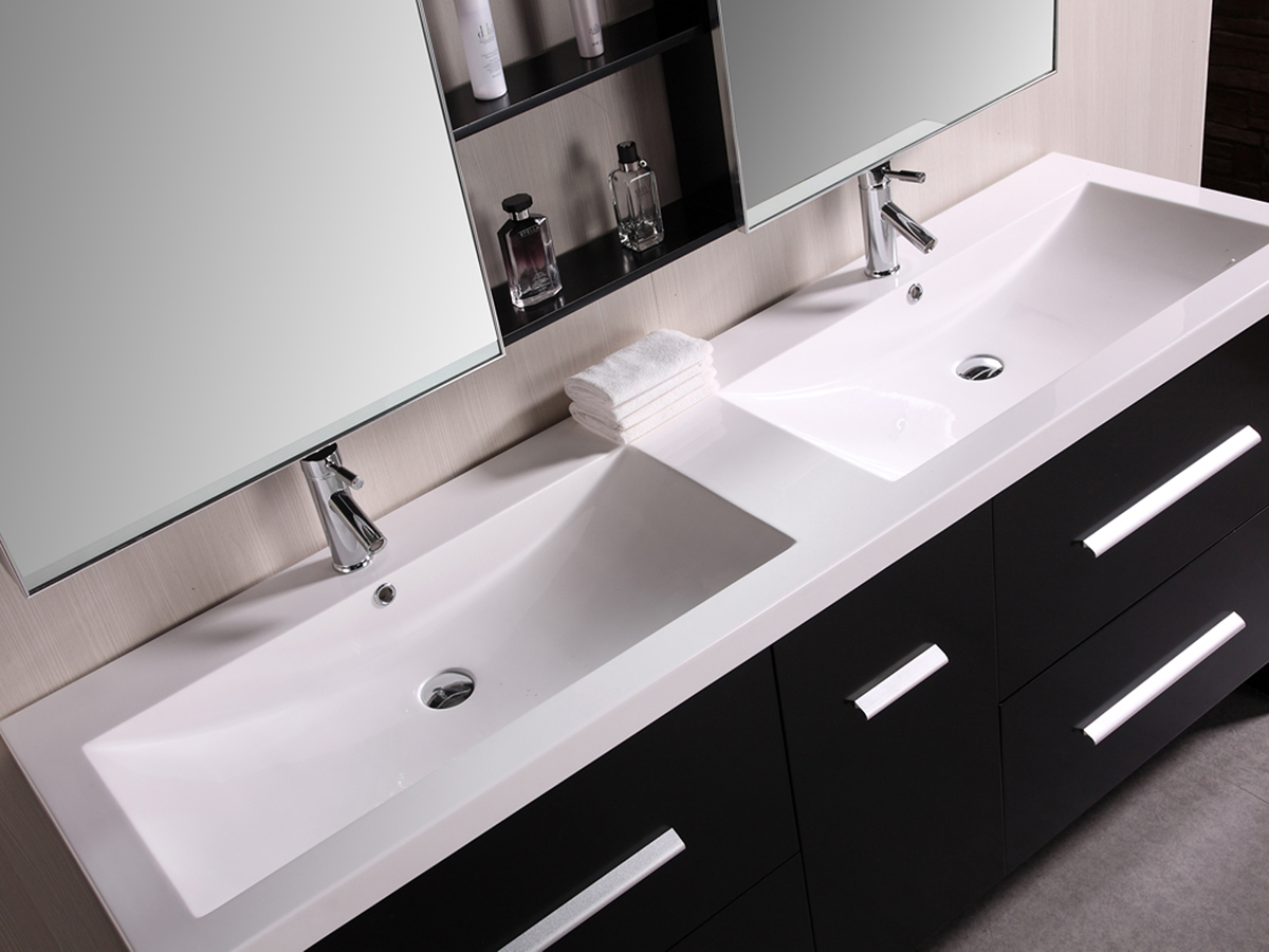 72 Perfecta Double Sink Vanity  Bathgemscom