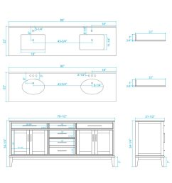 80 hatton double sink vanity dimensions [ 900 x 1200 Pixel ]