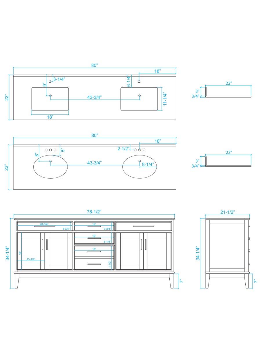 medium resolution of 80 hatton double sink vanity dimensions