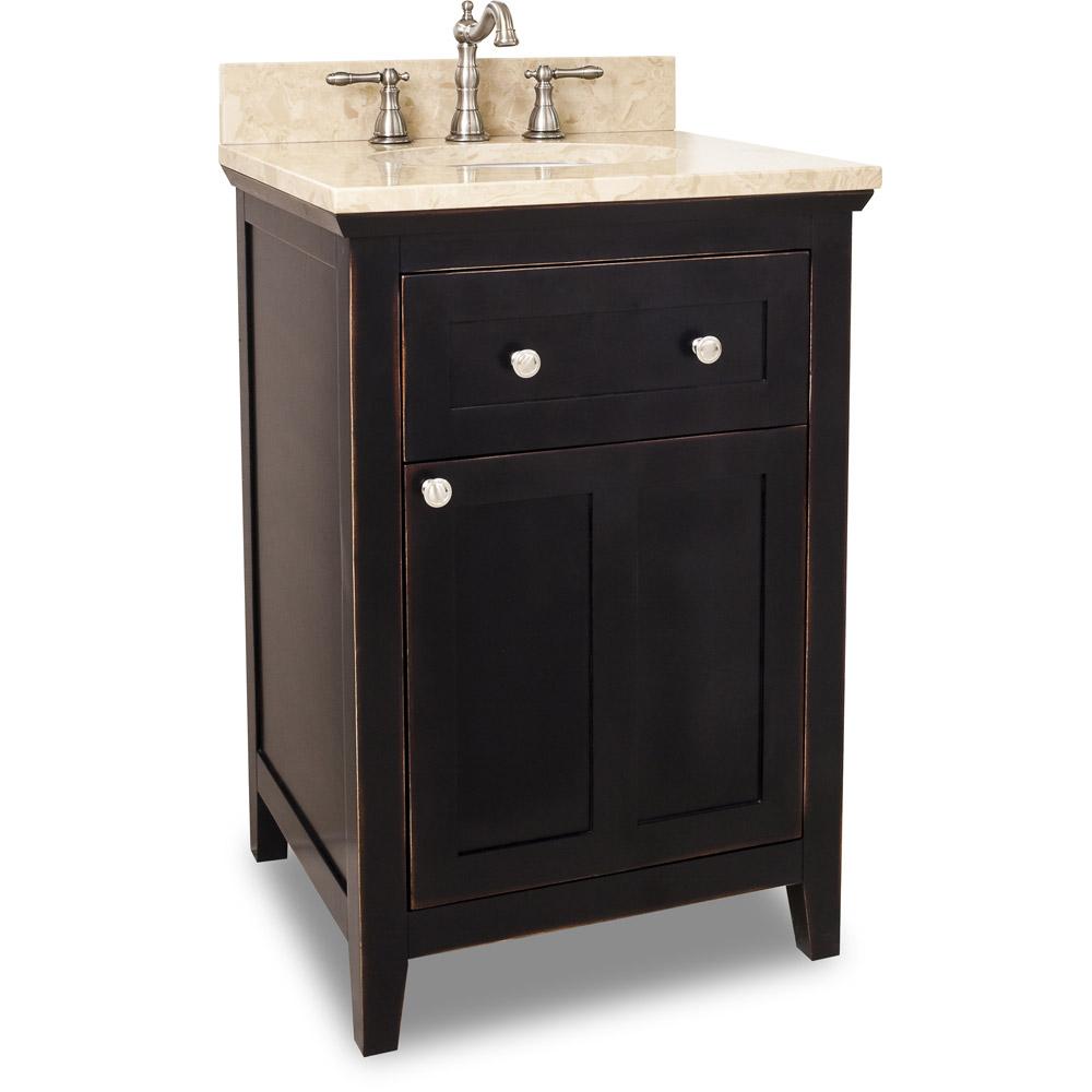 24 Vittoria Single Bath Vanity  Aged Black  Bathgemscom