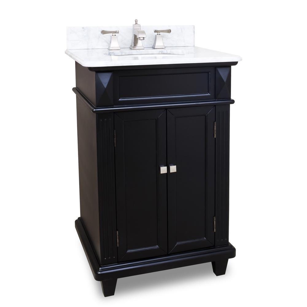 24 Jupiter Single Bath Vanity  Black  Bathgemscom