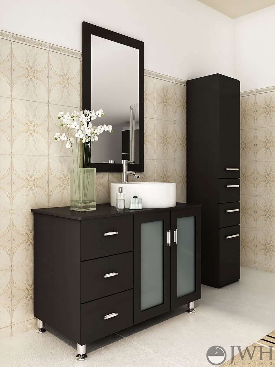 39 Lune Single Bathroom Vanity  Espresso  Bathgemscom